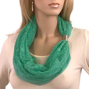 wholesale Magnetic Clasp Scarves (Cotton with Lace) #08 MInt -
