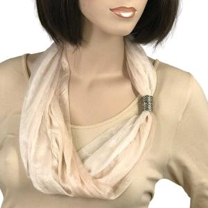 wholesale Magnetic Clasp Scarves (Crinkled Ombre 4012) #02 Cream - Taupe -