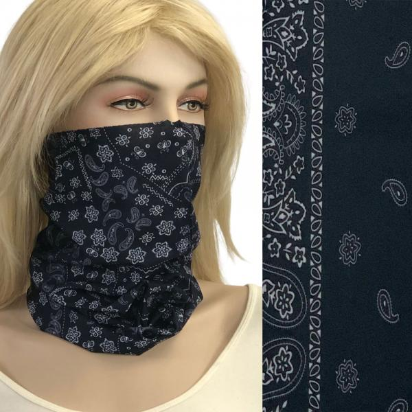 wholesale Protective Masks - Gaiters 1C21 Black Bandana Gaiter -