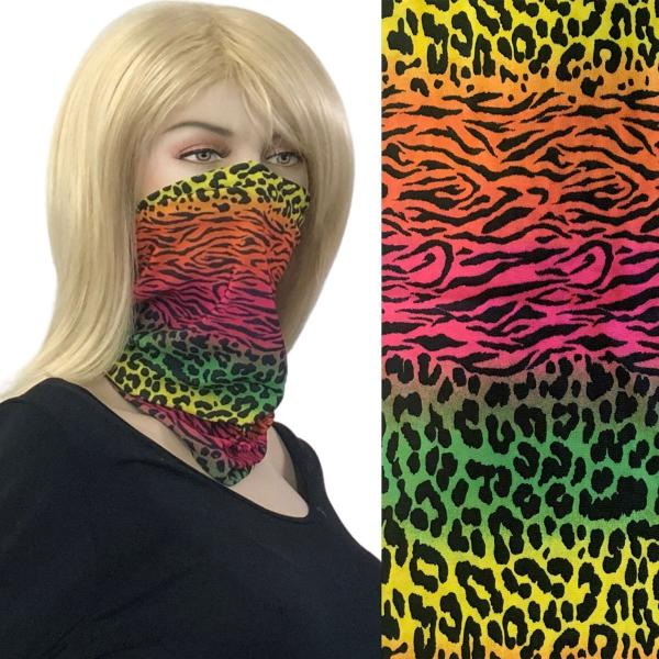 wholesale Protective Masks - Gaiters 1C19 Multi Leopard Gaiter -