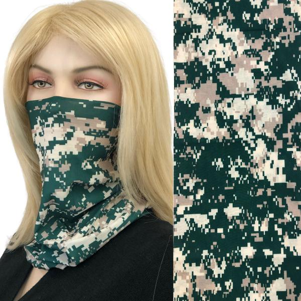 wholesale Protective Masks - Gaiters MC20 Pixelated Green-Taupe Gaiter -