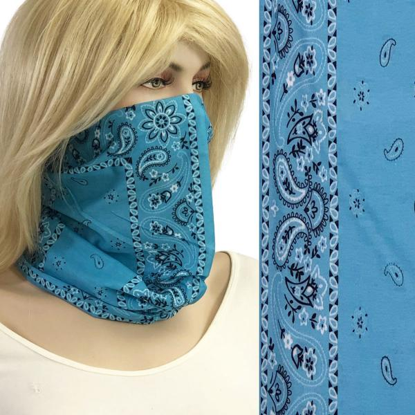 wholesale Protective Masks - Gaiters 1C21 Light Blue Bandana Gaiter -
