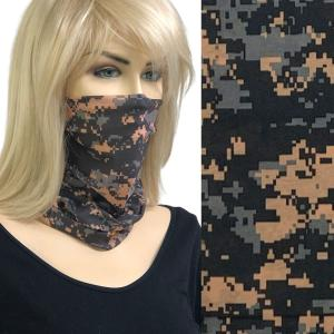 wholesale Protective Masks - Gaiters MC20 Pixelated Black-Tan-Grey -