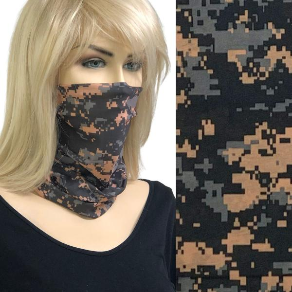 wholesale Protective Masks - Gaiters MC20 Pixelated Black-Tan-Grey Gaiter -