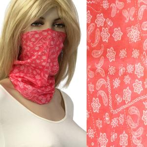 wholesale Protective Masks - Gaiters 1C22 Coral Pink Paisley* -