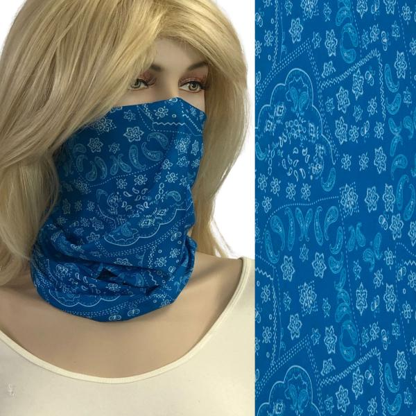 wholesale Protective Masks - Gaiters 1C22 Blue Paisley*Gaiter -