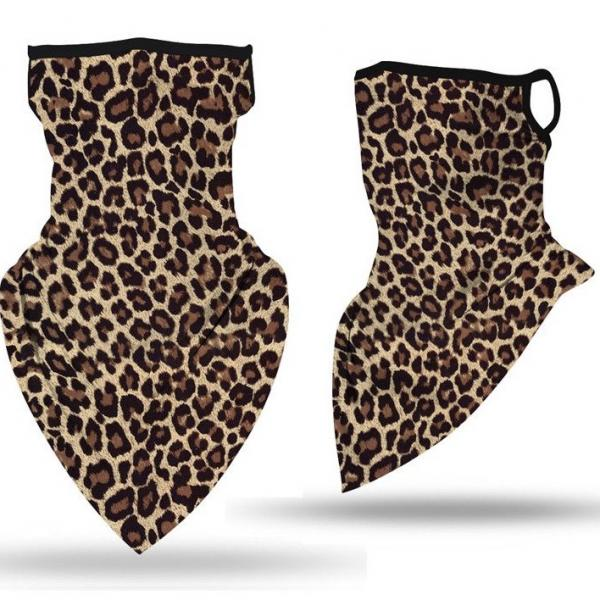wholesale Protective Masks - Gaiters #13 Leopard with Earloops Gaiter -
