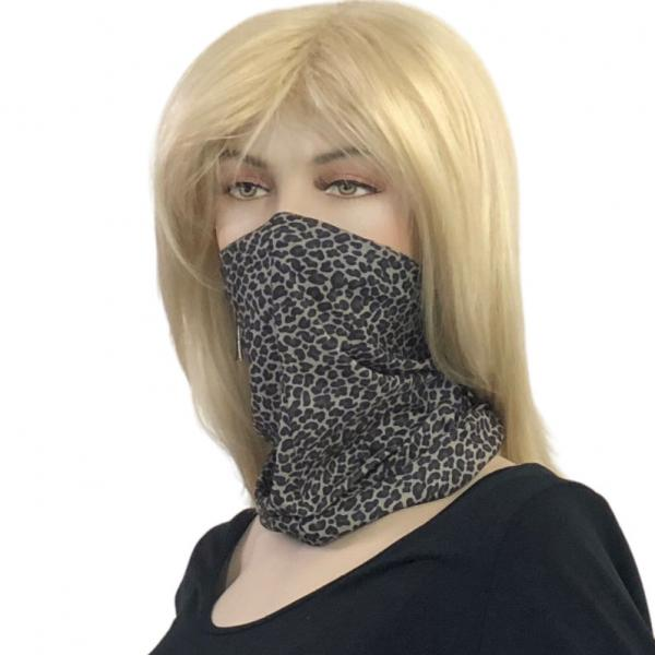 wholesale Protective Masks - Gaiters 1C19 Grey Leopard Gaiter -
