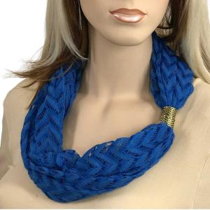 Magnetic Clasp Scarves (Chevron Lace) #08 Royal -
