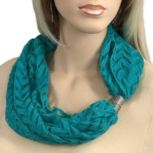wholesale Magnetic Clasp Scarves (Chevron Lace) #06 Teal -