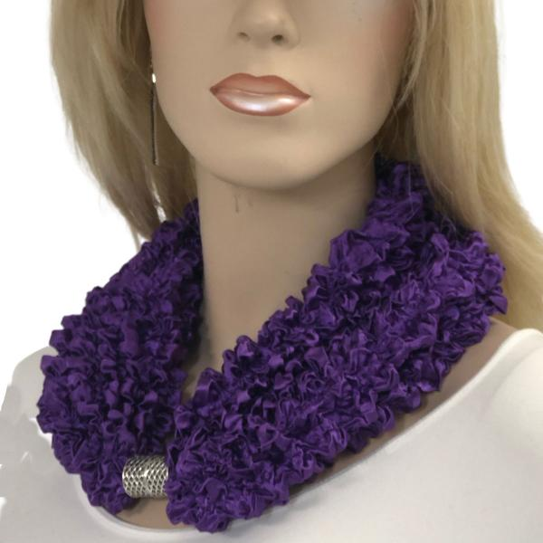 wholesale Magnetic Clasp Scarves - Coin + Bubble Satin  #24 GRAPE Magnetic Clasp Scarf - Bubble Satin -
