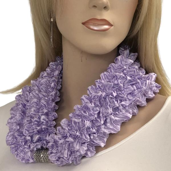 wholesale Magnetic Clasp Scarves - Coin + Bubble Satin  #28 LILAC Magnetic Clasp Scarf - Bubble Satin -