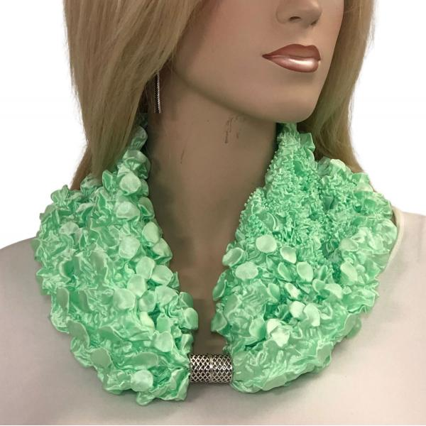 wholesale Magnetic Clasp Scarves - Coin + Bubble Satin  MINT Coin Fishscale Satin Magnetic Clasp Scarf    -