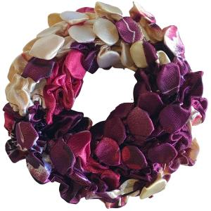 wholesale Satin (Jelly Donut) Coin Scrunchies #02 -