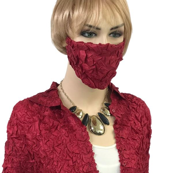 wholesale Protective Masks - Origami Origami Mask - Burgundy - One Size Fits All