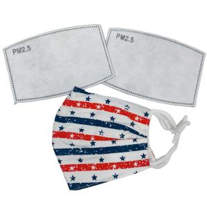 wholesale Protective Masks by Cate with Filters D29 Stars and Stipes (100% Cotton with Filters) - One Size Fits All