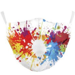 wholesale Protective Masks by Jessica with Filter Pocket #9-25 Paint Splatter - Jessica w/ Filter Pocket -