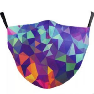 wholesale Protective Masks by Jessica with Filter Pocket #9-23 Multi Colored Geometric - Jessica w/ Filter Pocket -