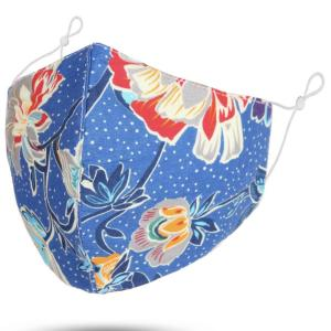 wholesale Protective Masks by Jessica with Filter Pocket #6-38 Large Floral - Blue - Jessica w/ Filter Pocket -