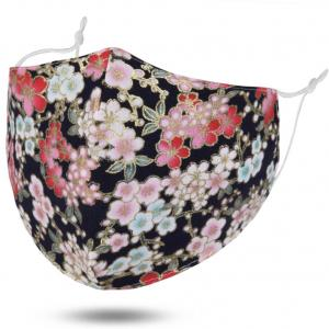 wholesale Protective Masks by Jessica with Filter Pocket #6-16 Floral on Black - Jessica w/ Filter Pocket -