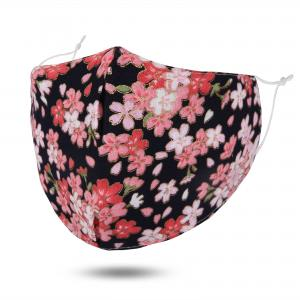 wholesale Protective Masks by Jessica with Filter Pocket #6-17 Black Blossoms - Jessica w/ Filter Pocket -