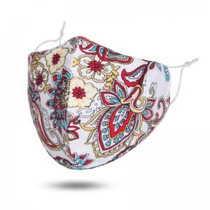 wholesale Protective Masks by Jessica with Filter Pocket #6-21 White Paisley - Jessica w/ Filter Pocket -
