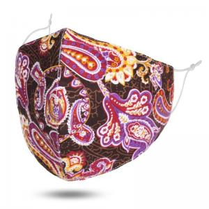 wholesale Protective Masks by Jessica with Filter Pocket #6-24 Purple Paisley - Jessica w/ Filter Pocket -