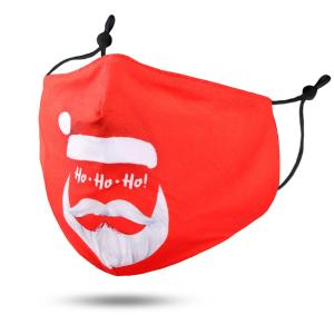 wholesale Protective Masks by Jessica with Filter Pocket #115-8 Red Santa - Jessica w/ Filter Pocket - Christmas Theme Masks -