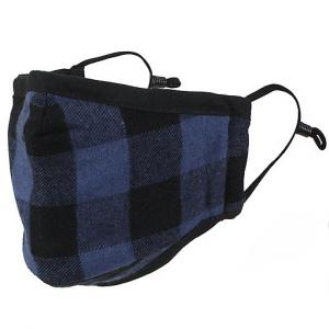 Protective Masks by Max - Buffalo Plaid Buffalo Check Blue/Black - One Size Fits All