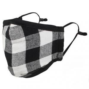 Protective Masks by Max - Buffalo Plaid Buffalo Check Black/White - One Size Fits All