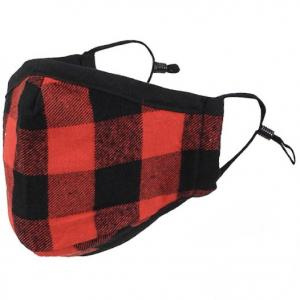 Protective Masks by Max - Buffalo Plaid Buffalo Check Red/Black - One Size Fits All