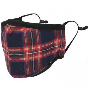 wholesale Protective Masks by Max - Tartan Plaids Classic Tartan Navy/Red - One Size Fits All