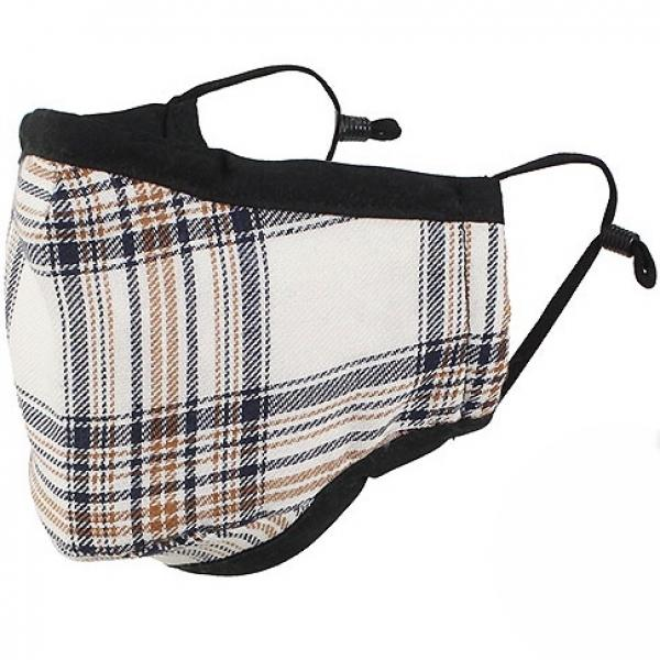 Protective Masks by Max - Tartan Plaids Classic Tartan Ivory/Brown/Black - One Size Fits All