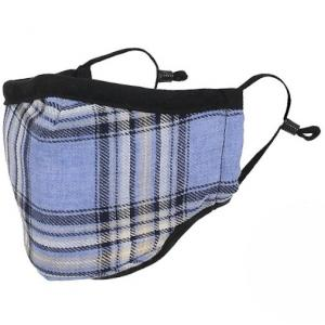 wholesale Protective Masks by Max - Tartan Plaids Classic Tartan Blue/Ivory/Black - One Size Fits All