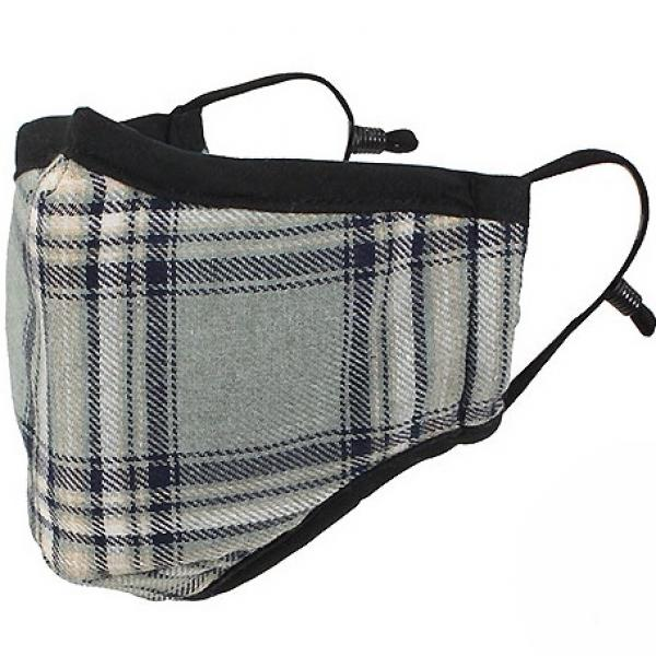 Protective Masks by Max - Tartan Plaids Classic Tartan Silver/Beige/Black - One Size Fits All