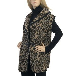 wholesale Leopard Print Vest wih Toggle Clasp 9415 Leopard Print Vest with Toggle Clasp -