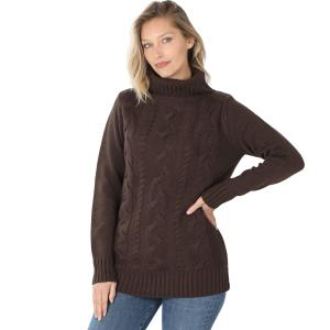 Wholesale  AMERICANO- Braided Front Turtleneck 21023 - Small
