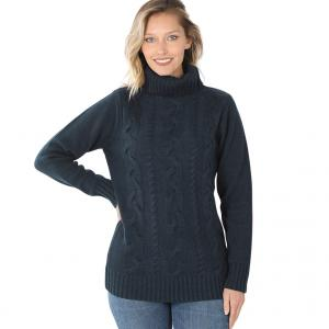 Wholesale  MIDNIGHT - Braided Front Turtleneck 21023 - X-Large