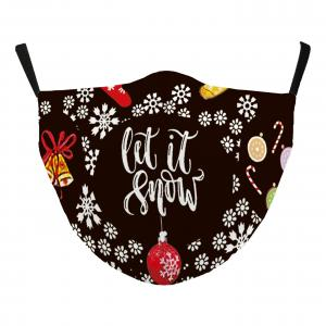Wholesale  #115-17 Let it Snow - Jessica w/ Filter Pocket - Christmas Theme Masks -