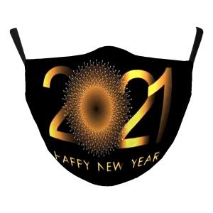 Wholesale  #118-5 Gold 2021 - Jessica w/ Filter Pocket - New Years' Masks -
