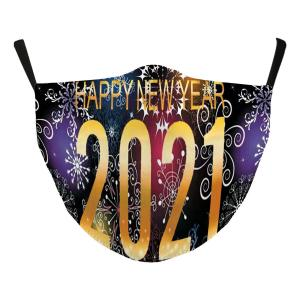 Wholesale  #118-3 Multi 2021 - Jessica w/ Filter Pocket - New Years' Masks -