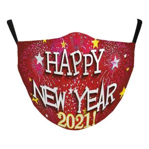 Wholesale  #118-4 Stars 2021 - Jessica w/ Filter Pocket - New Years' Masks -