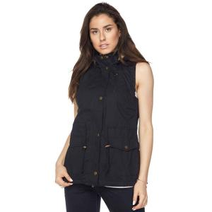 Black Fur Lined Safari Vest  - Medium