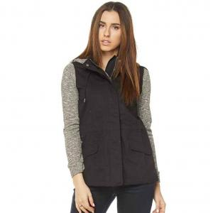 Black Safari Jacket with Grey Knit Contrast 28495 - S
