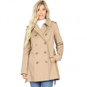 Dark Khaki Double Breasted Trench Coat 2665 - X-Large
