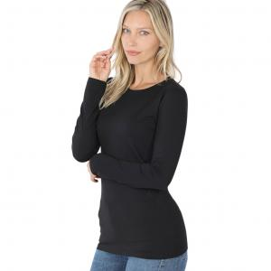 Metallic Print Shawls with Buttons Black Brushed Fiber - Round Neck Long Sleeve 2053 - Large
