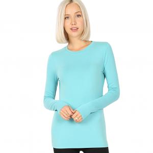 Wholesale  ASH MINT SIX PACK Round Neck Long Sleeve 2053 1S/1M/2L/2XL - 1 Small 1 Medium 2 Large 2 Extra Large