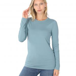 Wholesale  BLUE GREY SIX PACK Round Neck Long Sleeve 2053 1S/1M/2L/2XL - 1 Small 1 Medium 2 Large 2 Extra Large