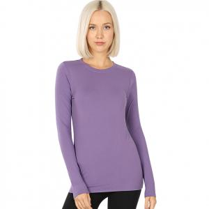 Wholesale  LILAC GREY SIX PACK Round Neck Long Sleeve 2053 1S/1M/2L/2XL - 1 Small 1 Medium 2 Large 2 Extra Large