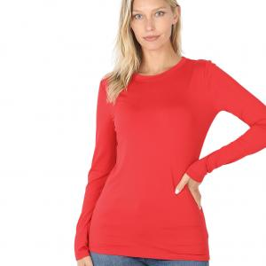 Wholesale  RUBY SIX PACK Round Neck Long Sleeve 2053 1S/1M/2L/2XL - 1 Small 1 Medium 2 Large 2 Extra Large